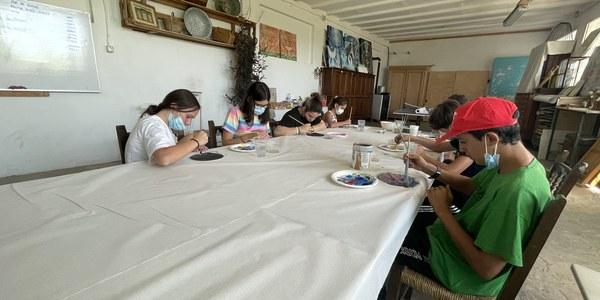 Els participants del taller en el seu primer dia d'activitats