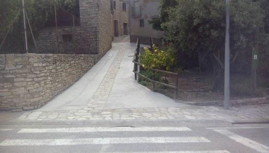 Finalitzen les obres de millora del carrer Sant Ramon de Portell