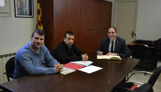 José Crespín, subdelegat del Govern a Lleida, visita Sant Ramon.