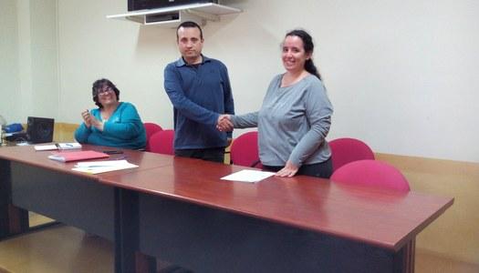 L'Ajuntament de Sant Ramon i l'AMPA de l'escola signen el conveni de col•laboració.