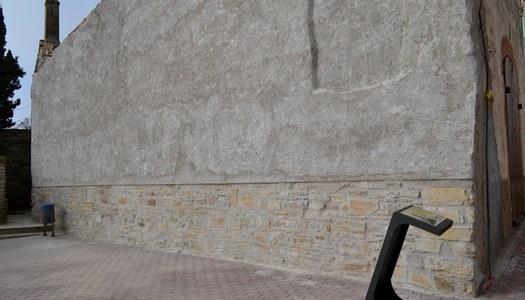 L'Ajuntament de Sant Ramon instal•la el plafó informatiu a la façana de La Manresana.
