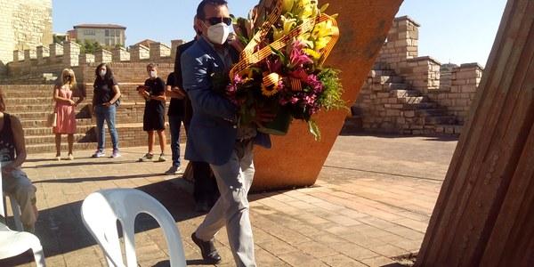 L'ajuntament de Sant Ramon participa als actes de la diada de l'11 de setembre