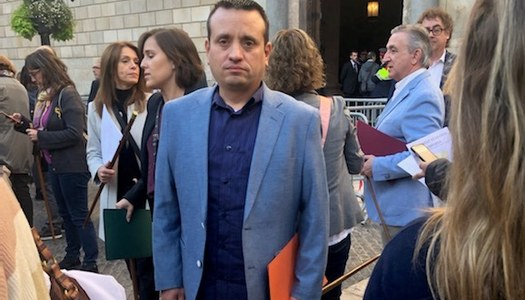 L'alcalde de Sant Ramon, Aleix Bochaca, participa a l'acte de rebuig a la sentència del Tribunal Suprem