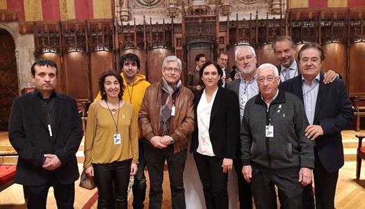 L'alcalde de Sant Ramon, Aleix Bochaca, participa a l'acte on alcaldes i alcaldesses van clamar per l'alliberament dels presos polítics abans del judici sobre l'1-O