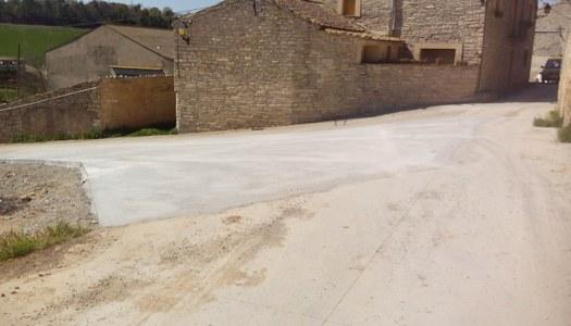 Millora de l'encreuament entre els carrers de la Font i de Baix a Viver (Sant Ramon)