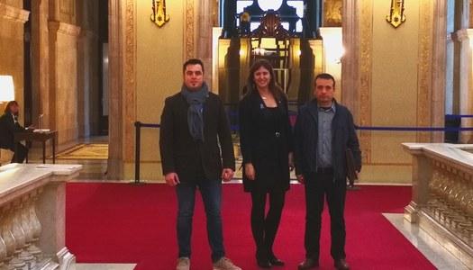 Visita a la Consellera de Cultura, Laura Borràs, per sol•licitar finançament per l'adequació de l'entorn de la torre de guaita de Portell.