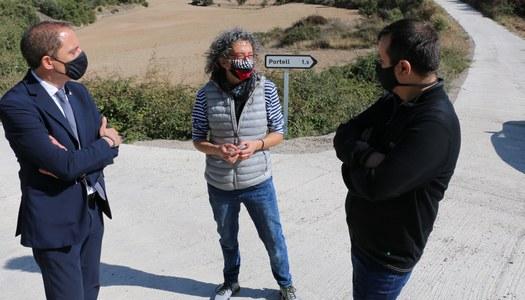 Visita d'obres del subdelegat del Govern a Lleida